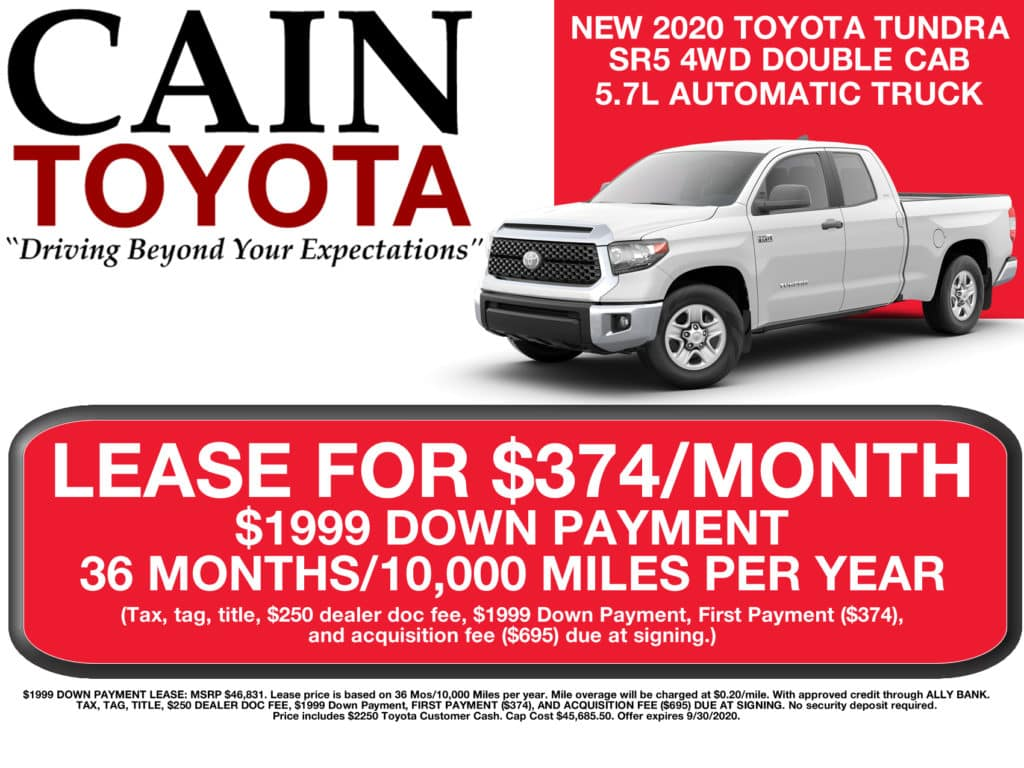 LEASE SPECIAL! New 2020 Toyota Tundra SR5 4WD Double Cab 5.7L Automatic Truck