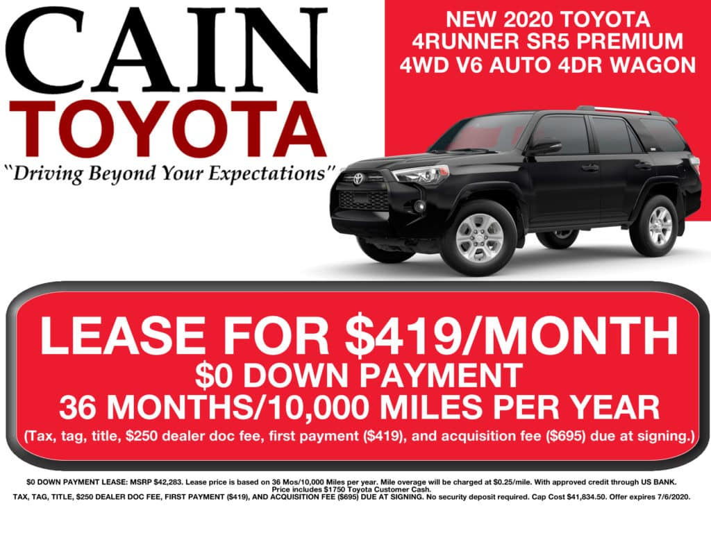 LEASE SPECIAL! New 2020 Toyota 4RUNNER 4WD 4DR SR5 PREMIUM V6 AUTO WAGON