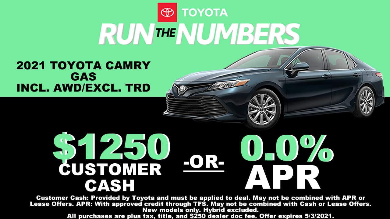 CAMRY SPECIAL OFFER CAIN TOYOTA NORTH CANTON OHIO