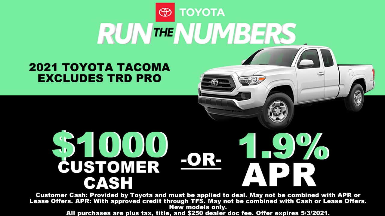 TACOMA SPECIAL OFFER CAIN TOYOTA NORTH CANTON OHIO