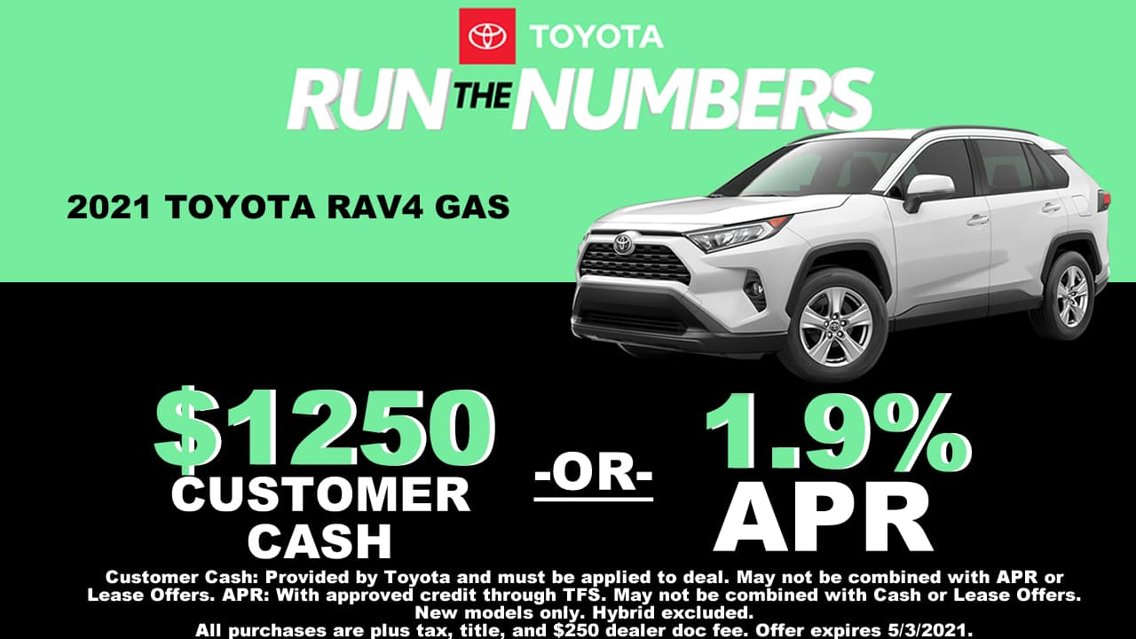 RAV4 SPECIAL OFFER CAIN TOYOTA NORTH CANTON OHIO