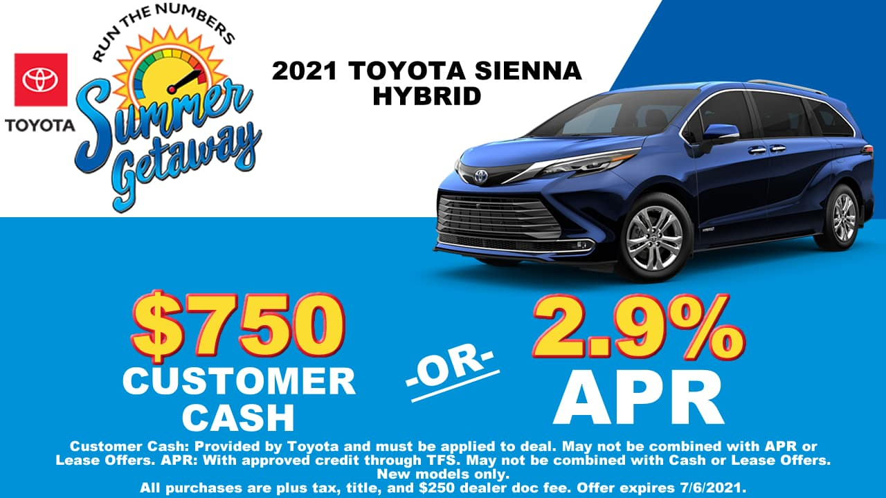 sienna special cain toyota north canton ohio