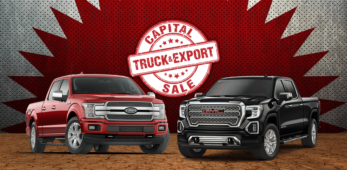Truck and Export Sale at Capital GMC and Capital Ford