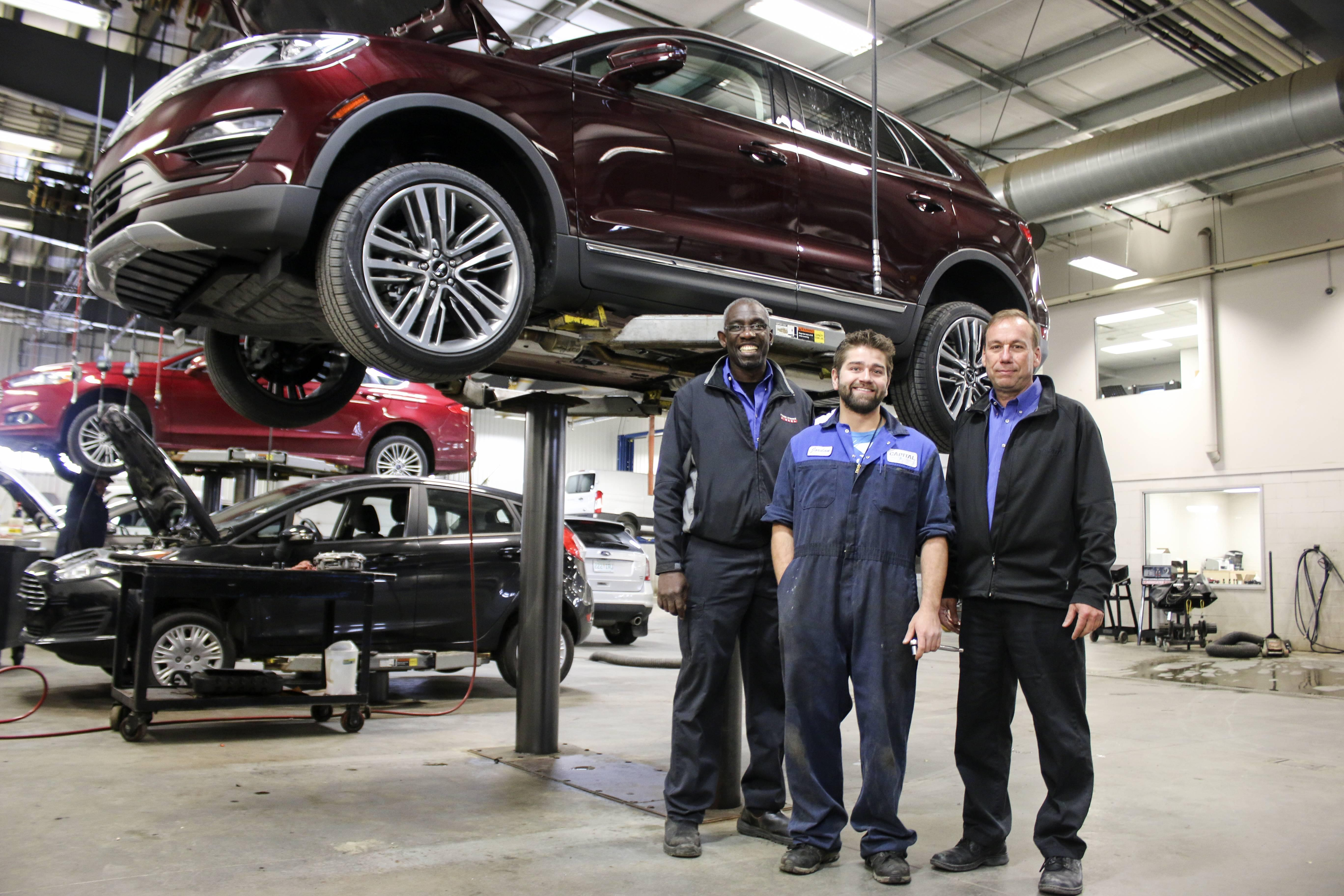 Capital ford service staff