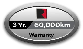 3yr or 60,000km limited warranty