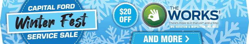 Capital Ford Winter Fest Service Sale