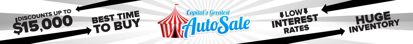 Capital's Greatest Auto Sale