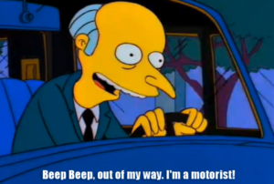 Mr Burns - Simpsons Driving