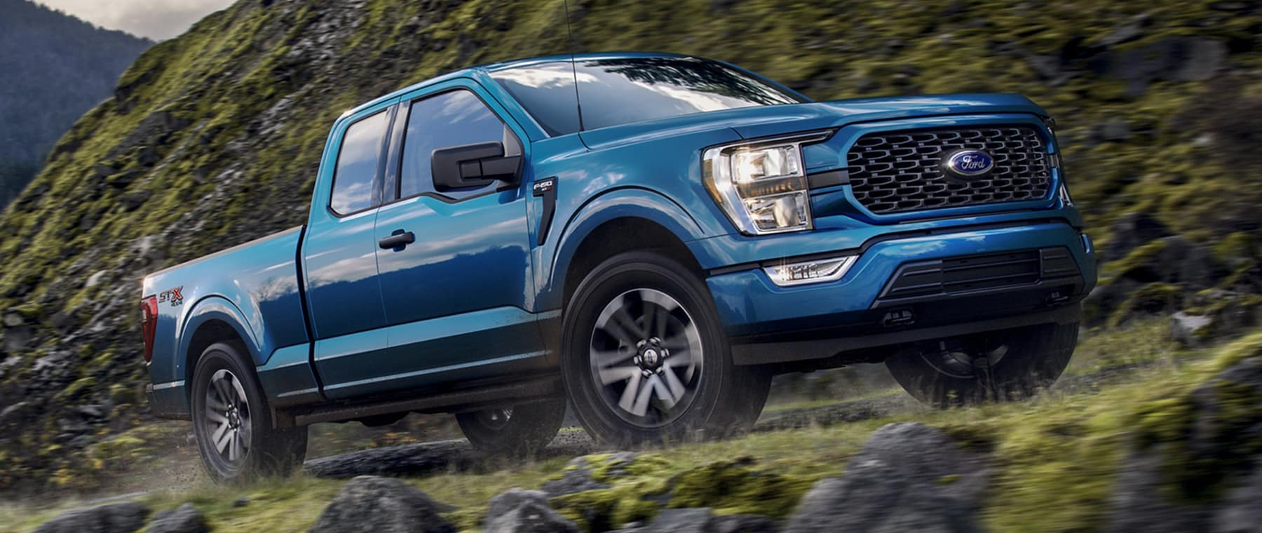 2021 Ford F150 on side of hill