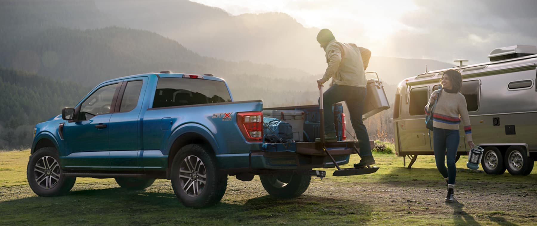 2021 Ford F150 ready for camping