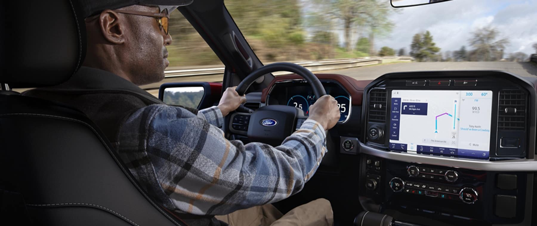 2021 Ford F150 driving on road