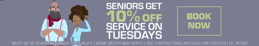 Seniors Get 10% Off Service
