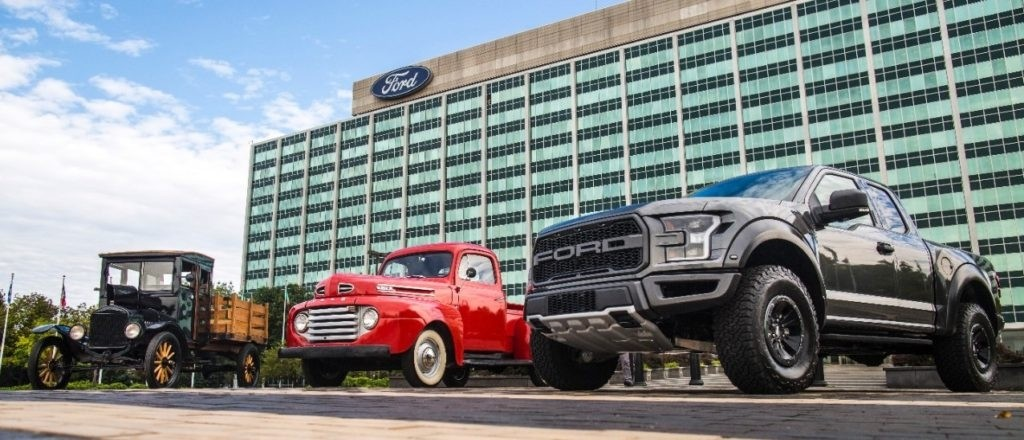 100 years of Ford trucks.