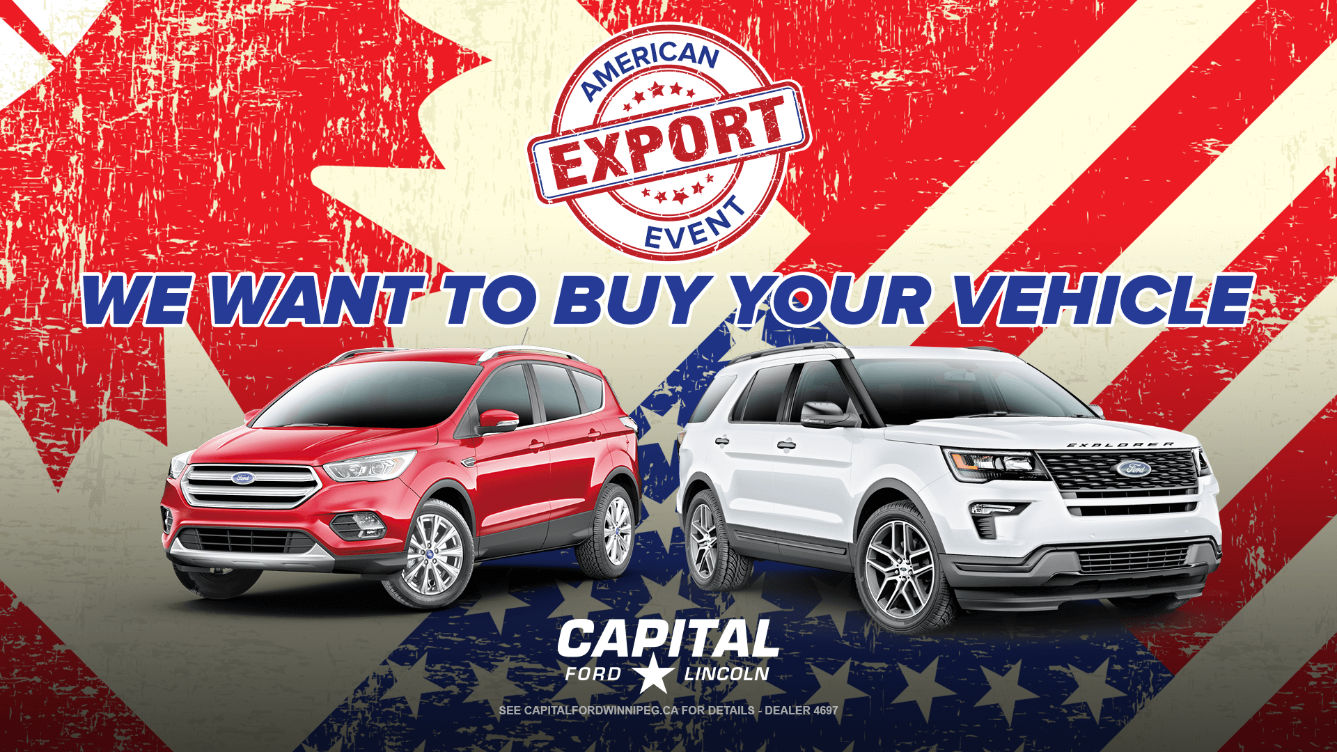 American Export Event - We Want to Buy Your Vehicle