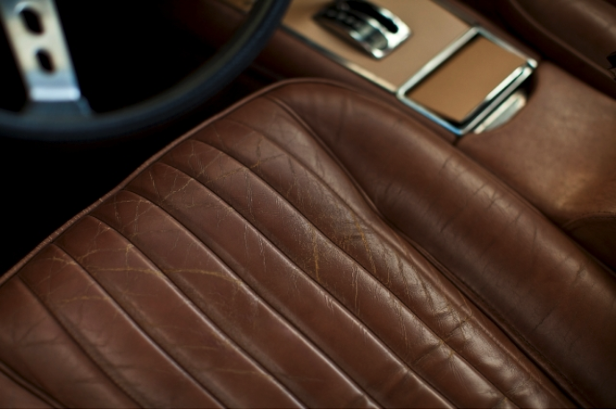 Leather Upholstery in a sports car