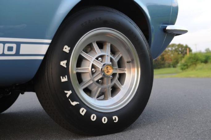 Black Goodyear tires on a vintage car