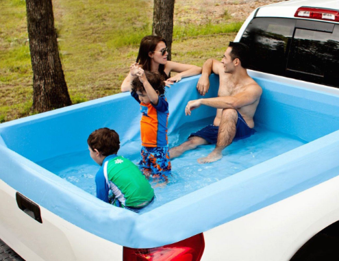 Swimming pool liner for your truck bed