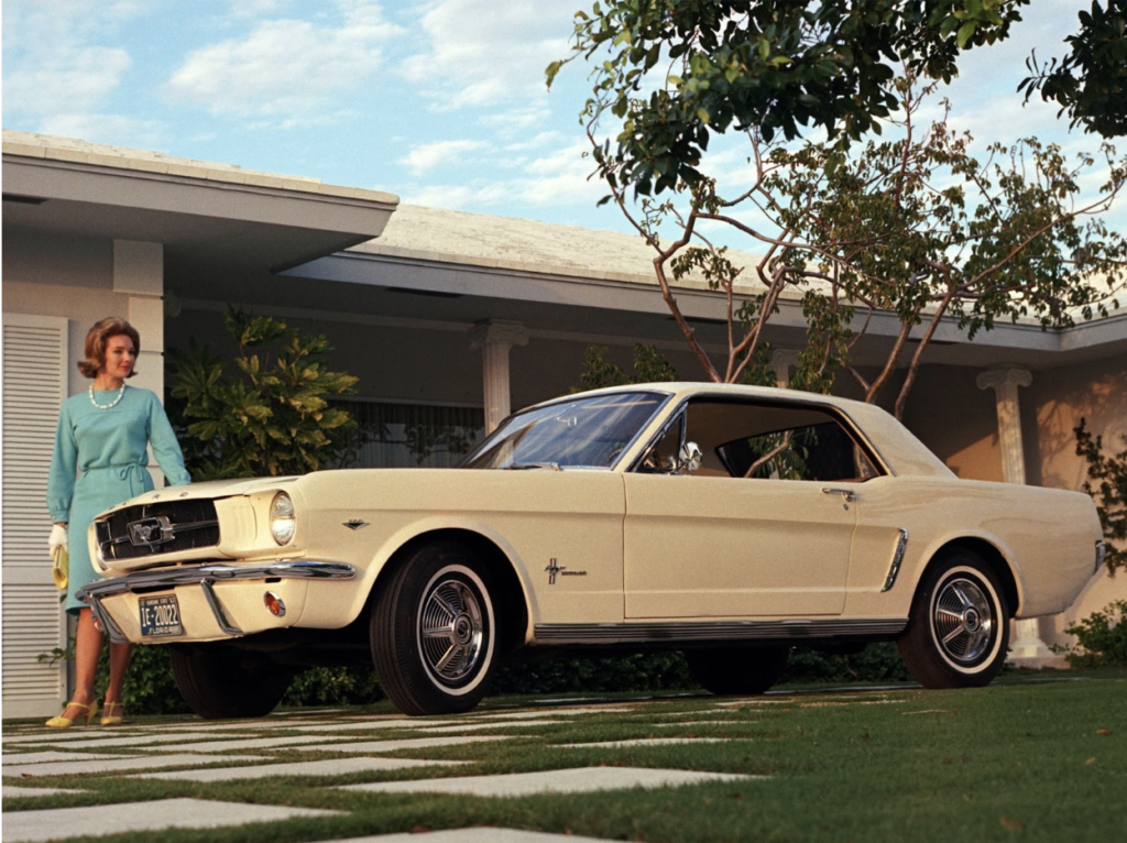 1964 - ford mustang was released