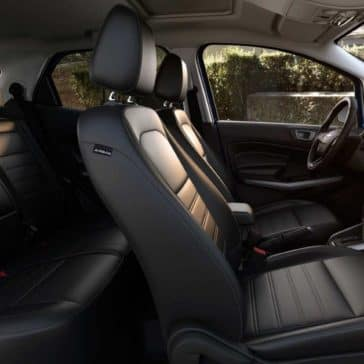 2018 Ford EcoSport Canada ebony black seating