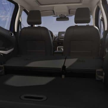 2018 Ford EcoSport Canada fold-flat second-row seating