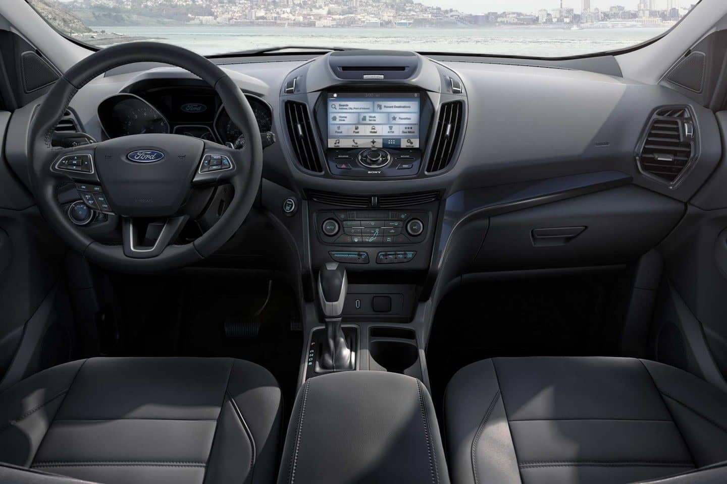 2018 Ford Escape Canada Titanium interior in Charcoal Black