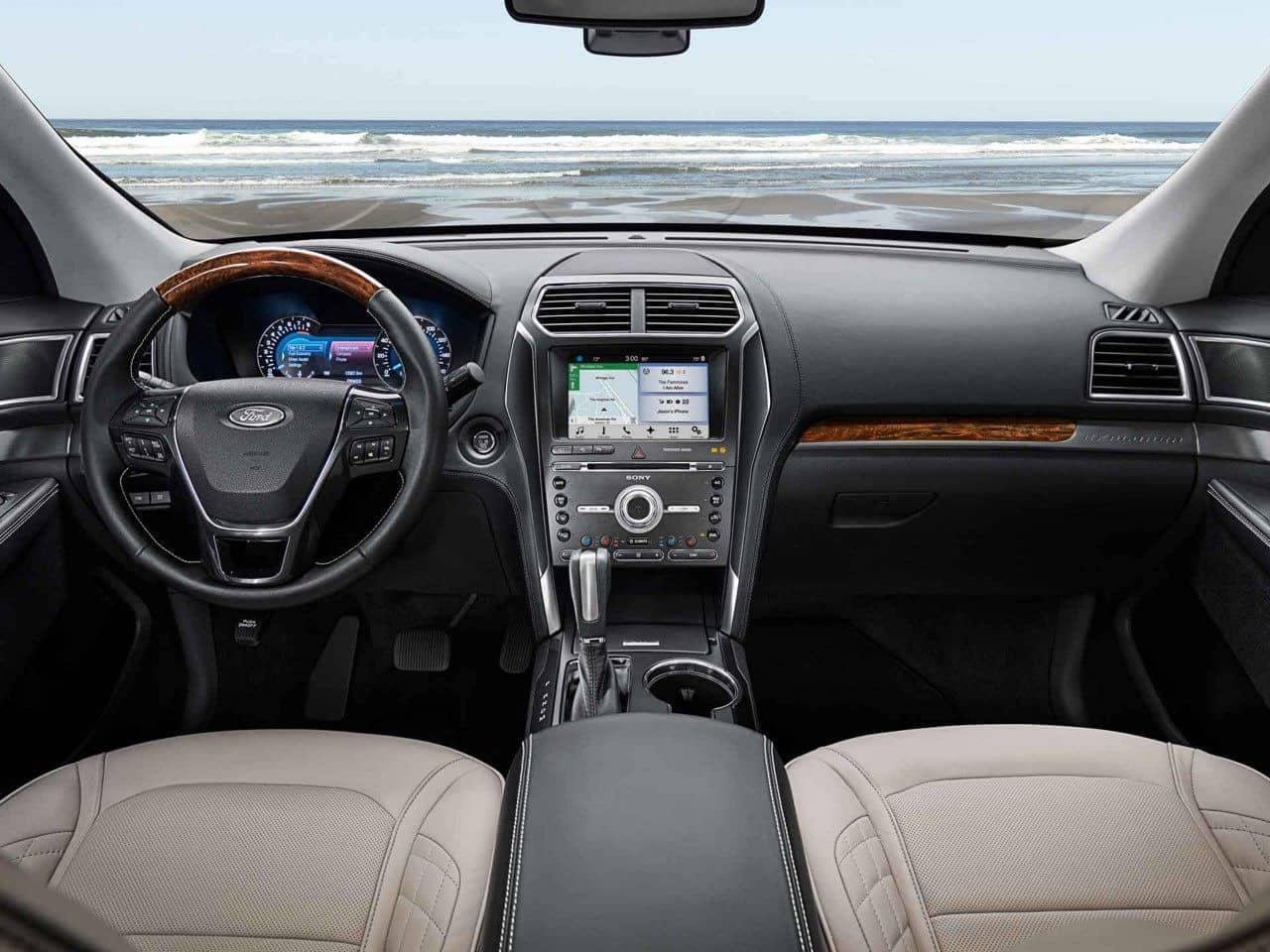 2018 Ford Explorer Canada front interior dashboard