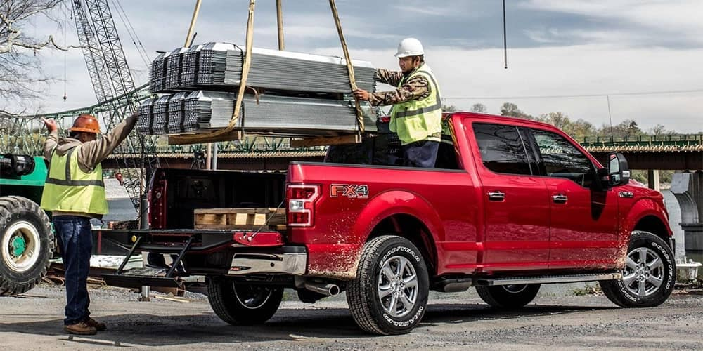 Loading Construction Materials into Back of 2019 Ford F-150