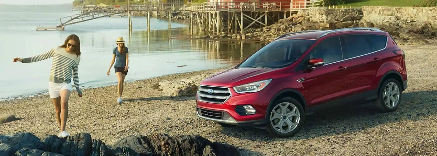 2019 Ford Escape parked at a lake