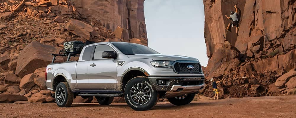 2019 Ford Ranger Parked by Rock Climbing Wall