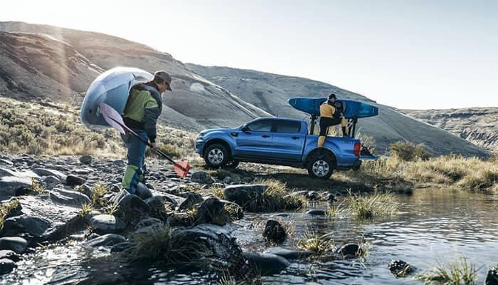 2019 Ford Ranger Unloading at Lake