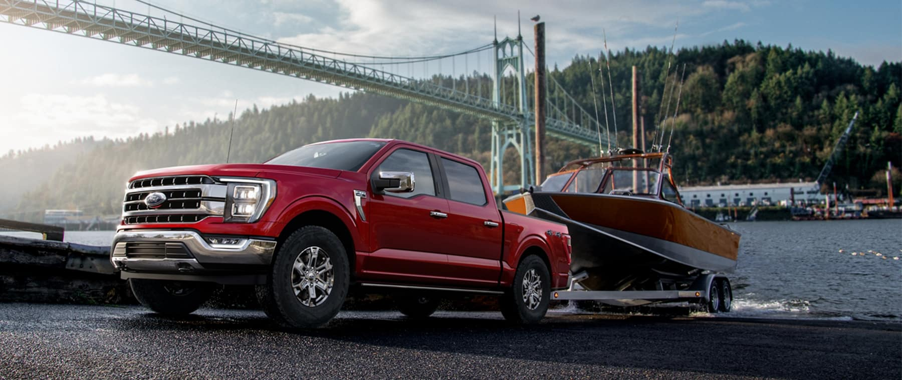 2021 Ford F150 towing boat