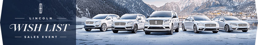 Lincoln Wish List Sales Event