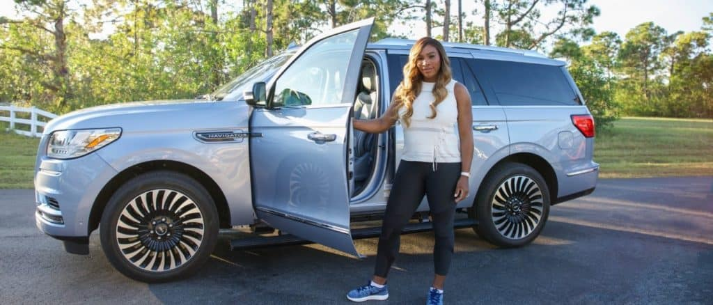 Serena Williams and the new Lincoln Navigator