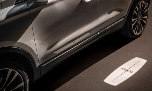 """The Lincoln Embrace - as you approach, the MKC lights up with a Lincoln """"welcome mat"""""""