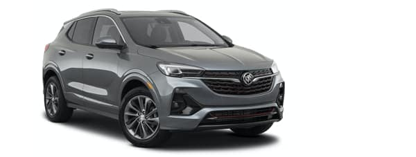 A dark grey 2021 Buick Encore GX is angled right.
