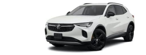 A white 2021 Buick Envision is angled left.