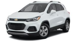 A white 2022 Chevy Trax LT is angled left.