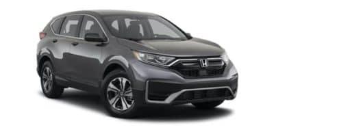 A dark grey 2021 Honda CR-V is shown angled right.