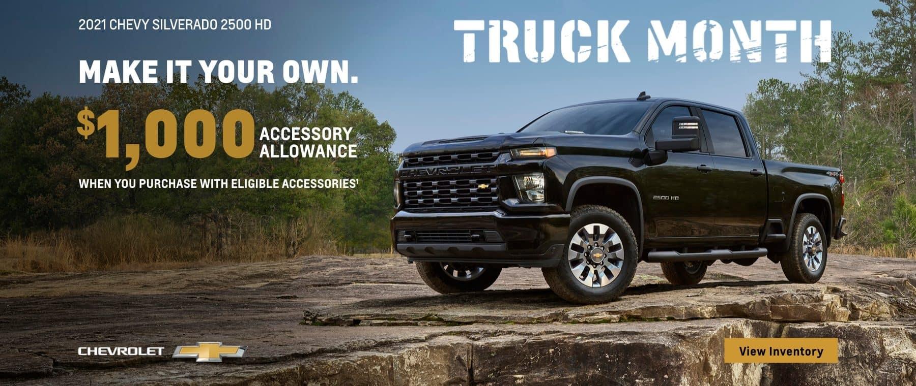 Truck Month: Make it town own $1,000 accessory allowance