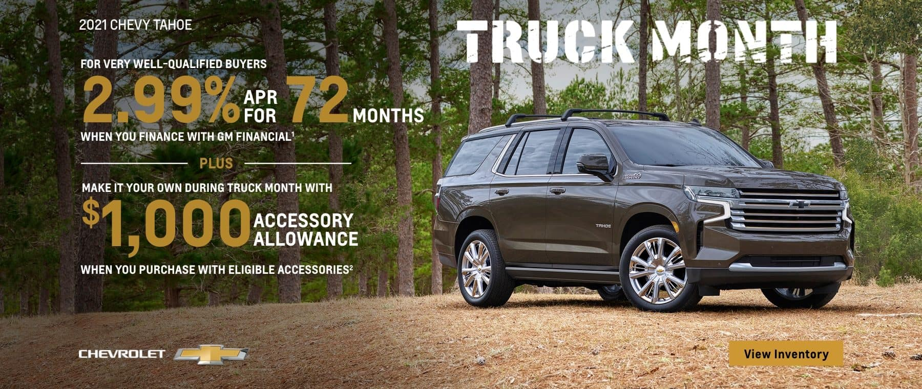 2021 CHEVY TAHOE TRUCK MONTH OFFERS