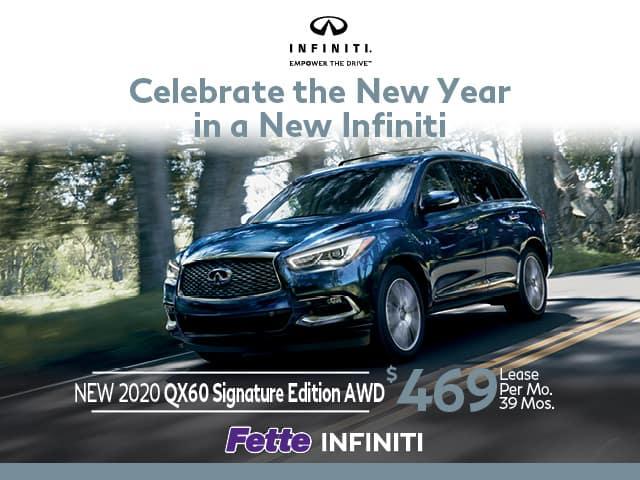New 2020 INFINITI QX60 Signature Edition AWD