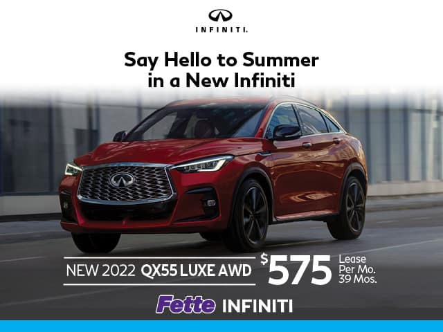 New 2022 INFINITI QX55 LUXE AWD