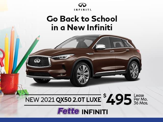 New 2021 INFINITI QX50 2.0T LUXE