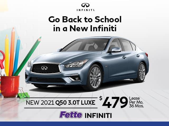 New 2021 INFINITI Q50 3.0T LUXE