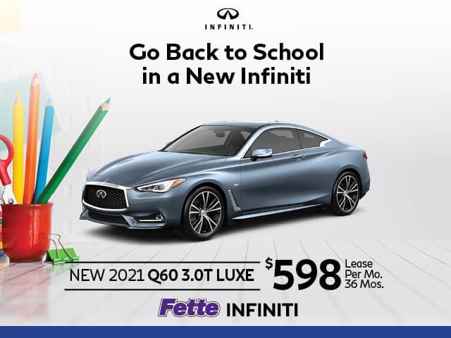 New 2021 INFINITI Q60 3.0T LUXE