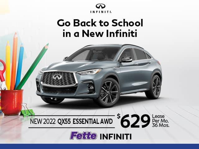 New 2022 INFINITI QX55 ESSENTIAL AWD