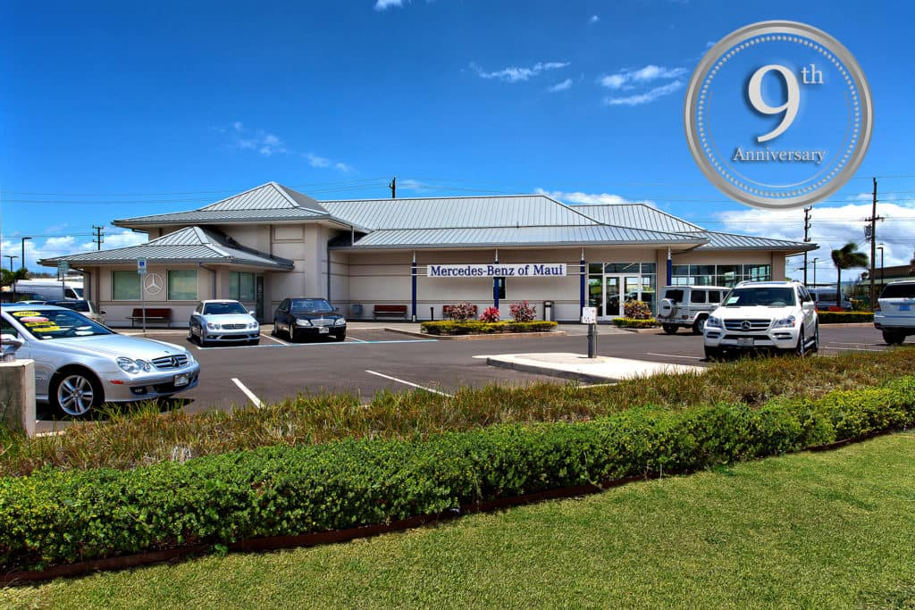 Mercedes benz of maui celebrates 9 years for Mercedes benz of nashville service department