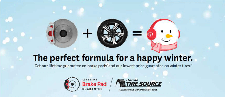 Get our lifetime guarantee on brake pads* and our lowest price guarantee on winter tires*. It's the perfect Formula for a happy winter!
