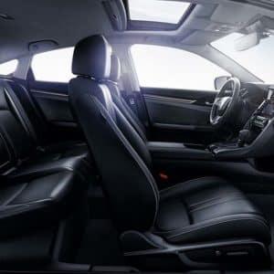 seating in the 2020 Honda Civic at Formula Honda in Scarborough