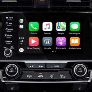 apple carplay Android auto 2020 Honda Civic at Formula Honda in Scarborough